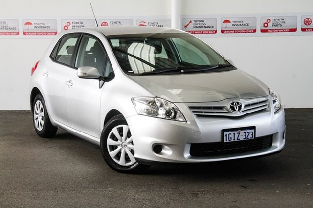 Used Toyota Corolla ZRE152R MY10 Ascent, 2009 Toyota Corolla ZRE152R MY10 Ascent Silver Pearl 6 Speed Manual Hatchback