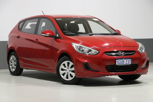 Used Hyundai Accent RB4 MY17 Active, 2017 Hyundai Accent RB4 MY17 Active Veloster Red 6 Speed CVT Auto Sequential Hatchback