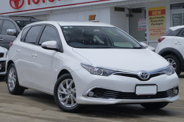 Used Toyota Corolla ZRE182R Ascent Sport S-CVT, 2017 Toyota Corolla ZRE182R Ascent Sport S-CVT Pearl White 7 Speed Constant Variable Hatchback