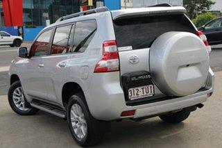 2014 Toyota Landcruiser Prado KDJ150R MY14 VX Silver Pearl 5 Speed Sports Automatic Wagon.