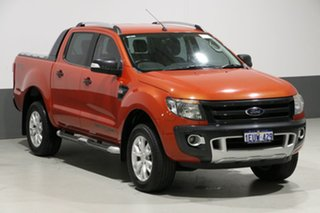 2015 Ford Ranger PX Wildtrak 3.2 (4x4) Orange 6 Speed Automatic Crew Cab Utility