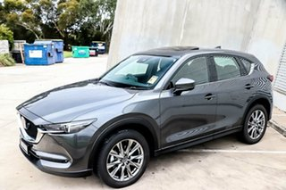 2019 Mazda CX-5 KF4WLA Akera SKYACTIV-Drive i-ACTIV AWD Machine Grey 6 Speed Sports Automatic Wagon.