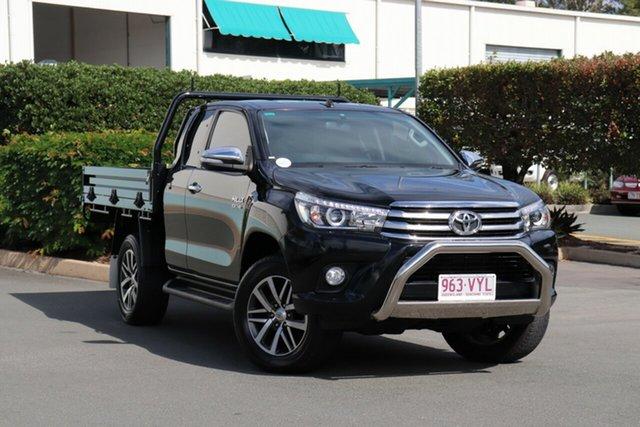 Used Toyota Hilux GUN126R SR5 Extra Cab, 2015 Toyota Hilux GUN126R SR5 Extra Cab Black 6 Speed Manual Utility