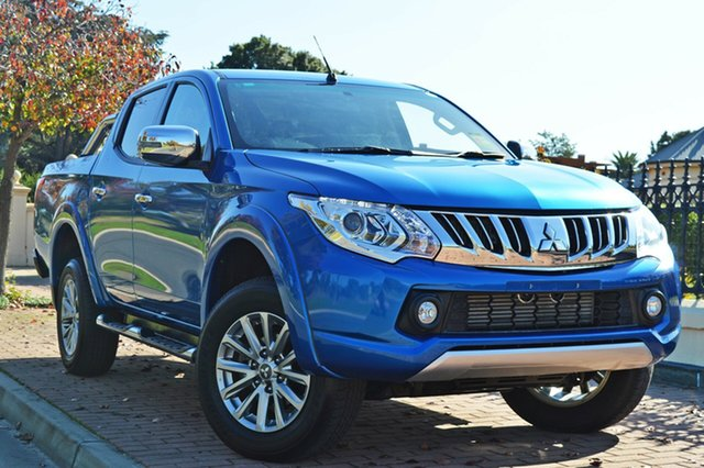 Used Mitsubishi Triton MQ MY17 GLS Double Cab, 2016 Mitsubishi Triton MQ MY17 GLS Double Cab Blue 5 Speed Sports Automatic Utility