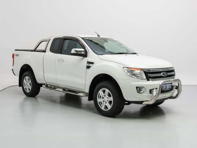 Used Ford Ranger PX XLT 3.2 (4x4), 2014 Ford Ranger PX XLT 3.2 (4x4) White 6 Speed Automatic Super Cab Utility