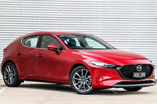 Demo Mazda 3 BP2HLA G25 SKYACTIV-Drive GT, 2019 Mazda 3 BP2HLA G25 SKYACTIV-Drive GT Soul Red Crystal 6 Speed Sports Automatic Hatchback