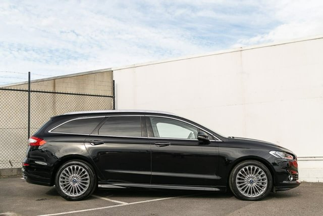 Used Ford Mondeo MD 2017.00MY Titanium PwrShift, 2017 Ford Mondeo MD 2017.00MY Titanium PwrShift Black 6 Speed Sports Automatic Dual Clutch Wagon