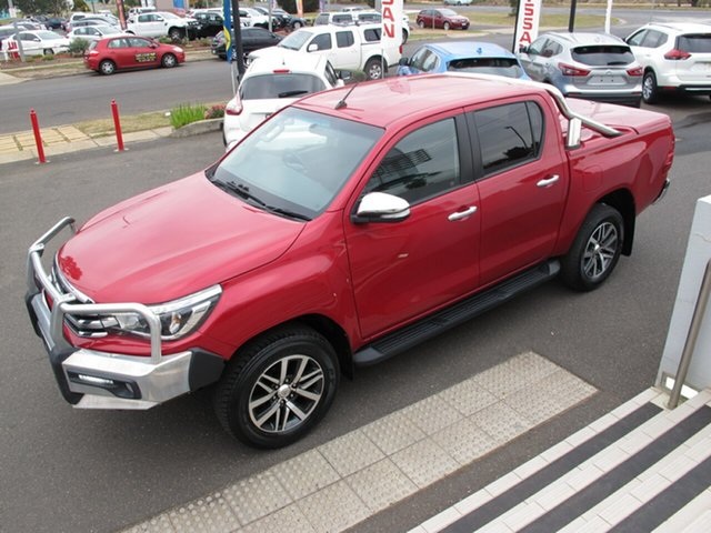 Used Toyota Hilux GUN126R SR5, 2016 Toyota Hilux GUN126R SR5 Red 6 Speed Semi Auto Utility