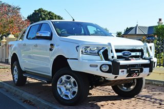 2018 Ford Ranger PX MkII 2018.00MY XLT Double Cab White 6 Speed Manual Utility.