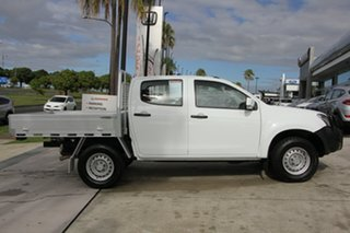 2014 Isuzu D-MAX MY14 SX Crew Cab White 5 Speed Sports Automatic Cab Chassis.