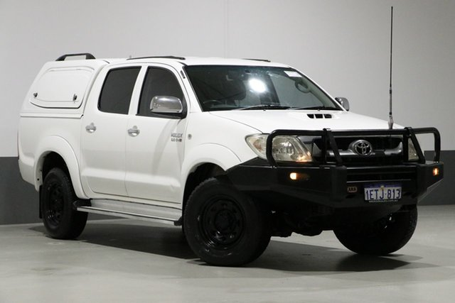Used Toyota Hilux KUN26R MY11 Upgrade SR5 (4x4), 2011 Toyota Hilux KUN26R MY11 Upgrade SR5 (4x4) White 5 Speed Manual Dual Cab Pick-up