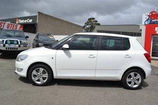 2012 Skoda Fabia 77TSI AMBITION 5JF White 7 Speed Automatic Hatchback.