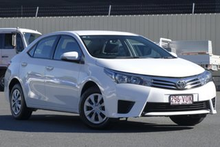 2015 Toyota Corolla ZRE172R Ascent White 6 Speed Manual Sedan.