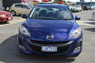 2011 Mazda 3 BL SERIES 1 SP25 Blue 6 Speed Manual Sedan