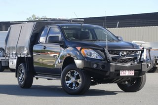 2012 Mazda BT-50 UP0YF1 XT Freestyle 4x2 Hi-Rider Black 6 Speed Manual Cab Chassis.