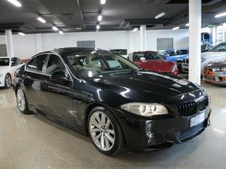 2012 BMW 5 Series F10 MY0911 520d Steptronic Black Sapphire 8 Speed Sports Automatic Sedan.