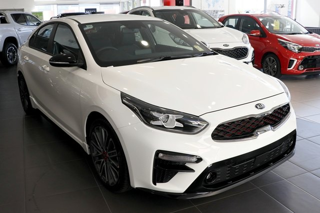 New Kia Cerato BD MY20 GT DCT, 2019 Kia Cerato BD MY20 GT DCT Clear White 7 Speed Sports Automatic Dual Clutch Sedan