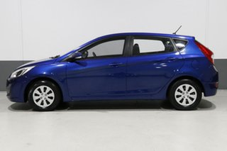 2015 Hyundai Accent RB3 MY16 Active Blue 6 Speed CVT Auto Sequential Hatchback