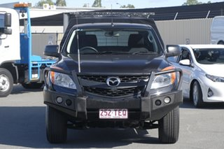 2012 Mazda BT-50 UP0YF1 XT Freestyle 4x2 Hi-Rider Black 6 Speed Manual Cab Chassis