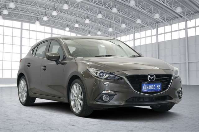 Used Mazda 3 BM5438 SP25 SKYACTIV-Drive GT, 2013 Mazda 3 BM5438 SP25 SKYACTIV-Drive GT Grey 6 Speed Sports Automatic Hatchback