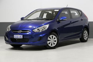 2015 Hyundai Accent RB3 MY16 Active Blue 6 Speed CVT Auto Sequential Hatchback.