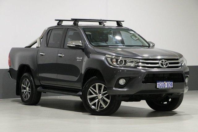 Used Toyota Hilux GUN126R SR5 (4x4), 2015 Toyota Hilux GUN126R SR5 (4x4) Graphite 6 Speed Automatic Dual Cab Utility