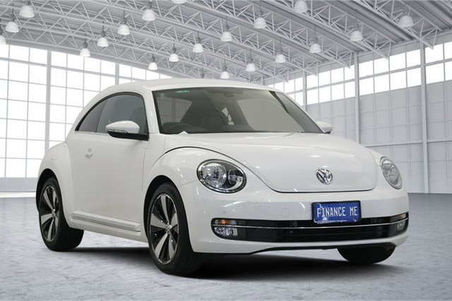 Used Volkswagen Beetle 1L MY13 Coupe DSG, 2013 Volkswagen Beetle 1L MY13 Coupe DSG White 7 Speed Sports Automatic Dual Clutch Liftback