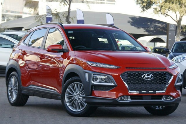 New Hyundai Kona OS.3 MY20 Elite D-CT AWD, 2019 Hyundai Kona OS.3 MY20 Elite D-CT AWD Tangerine Comet 7 Speed Sports Automatic Dual Clutch