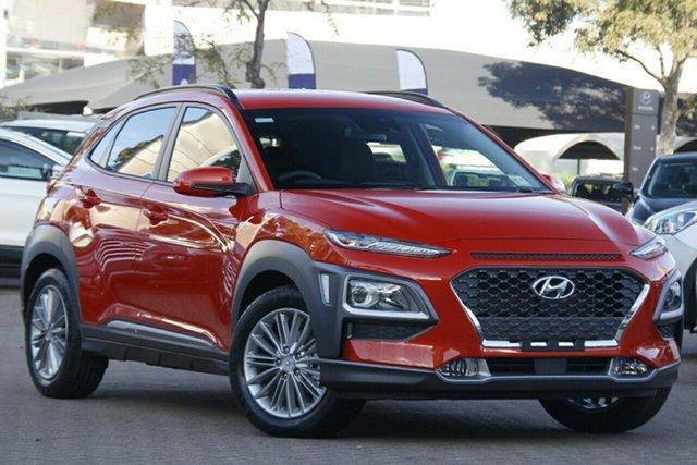 New Hyundai Kona OS.3 MY20 Elite 2WD, 2020 Hyundai Kona OS.3 MY20 Elite 2WD Tangerine Comet 6 Speed Sports Automatic Wagon