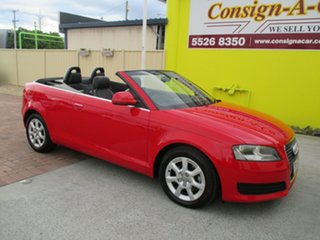 2008 Audi A3 8P Attraction S Tronic Red 6 Speed Sports Automatic Dual Clutch Convertible.