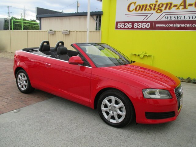 Used Audi A3 8P Attraction S Tronic, 2008 Audi A3 8P Attraction S Tronic Red 6 Speed Sports Automatic Dual Clutch Convertible