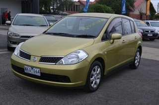 2008 Nissan Tiida C11 MY07 ST-L Yellow 4 Speed Automatic Hatchback.