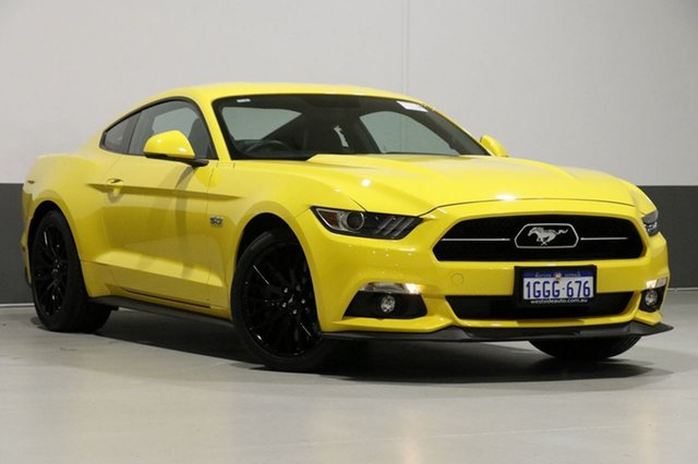 Used Ford Mustang FM MY17 Fastback GT 5.0 V8, 2017 Ford Mustang FM MY17 Fastback GT 5.0 V8 Yellow 6 Speed Manual Coupe