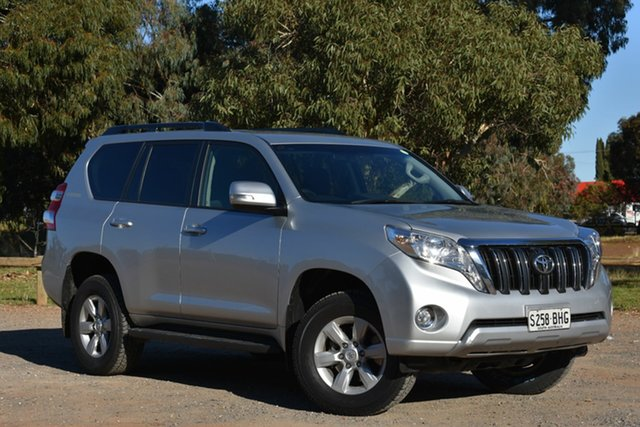Used Toyota Landcruiser Prado KDJ150R MY14 GXL, 2015 Toyota Landcruiser Prado KDJ150R MY14 GXL Silver 5 Speed Sports Automatic Wagon