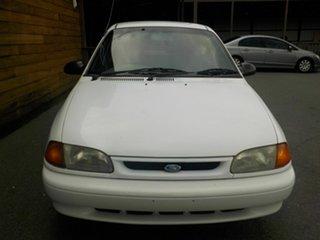 1995 Ford Festiva WB GLi White 3 Speed Automatic Hatchback.