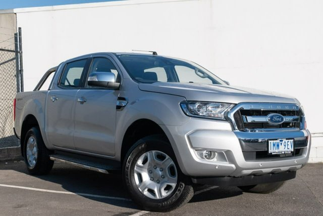 Used Ford Ranger PX MkII 2018.00MY XLT Double Cab 4x2 Hi-Rider, 2018 Ford Ranger PX MkII 2018.00MY XLT Double Cab 4x2 Hi-Rider Silver 6 Speed Sports Automatic