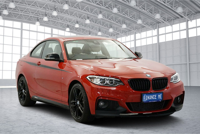 Used BMW 2 Series F22 230i M Sport, 2017 BMW 2 Series F22 230i M Sport Orange 8 Speed Sports Automatic Coupe