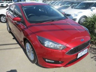 2017 Ford Focus LZ Sport Red/Black 6 Speed Automatic Hatchback.