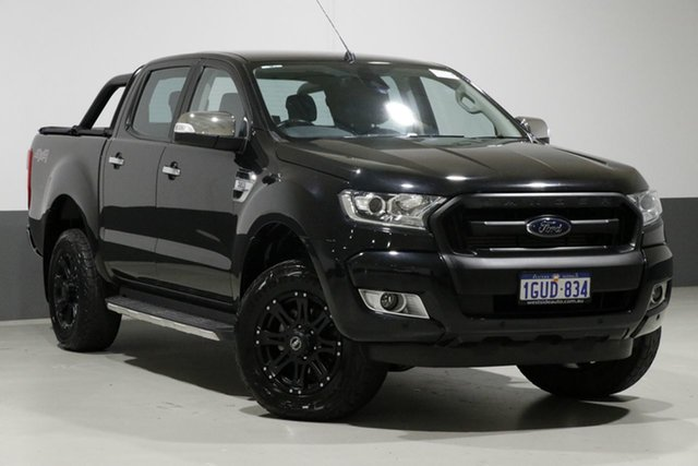 Used Ford Ranger PX MkII MY17 XLT 3.2 (4x4), 2016 Ford Ranger PX MkII MY17 XLT 3.2 (4x4) Black 6 Speed Manual Dual Cab Utility