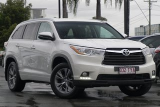 2014 Toyota Kluger GSU55R GXL AWD White 6 Speed Sports Automatic Wagon.