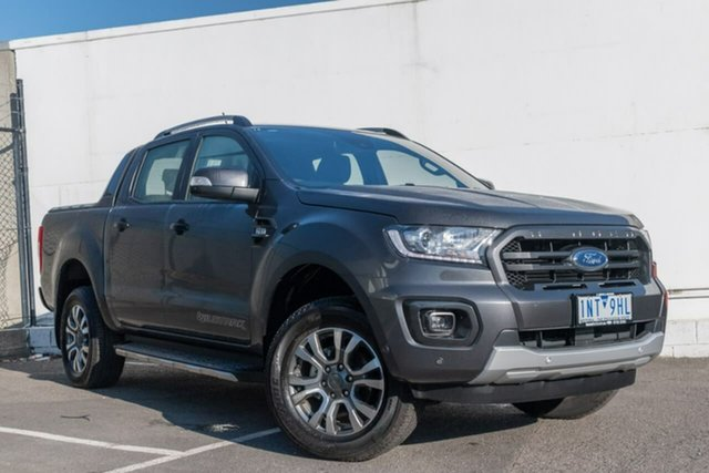 Used Ford Ranger PX MkIII 2019.00MY Wildtrak Pick-up Double Cab, 2018 Ford Ranger PX MkIII 2019.00MY Wildtrak Pick-up Double Cab Grey 6 Speed Manual Utility