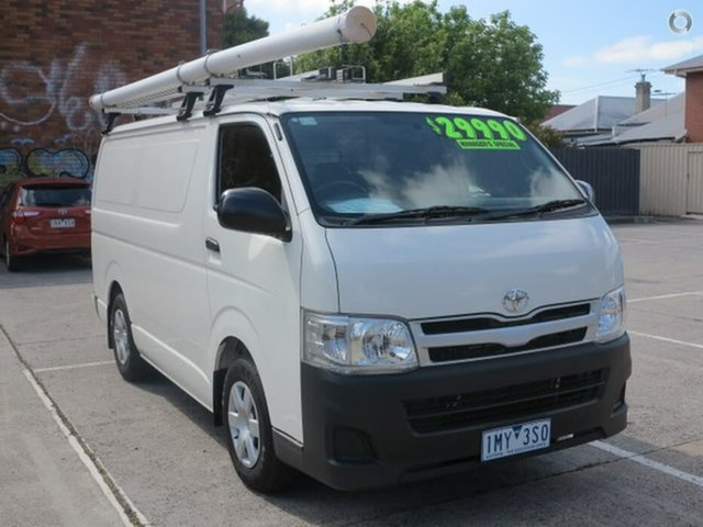 Used Toyota HiAce KDH201R MY12 LWB, 2013 Toyota HiAce KDH201R MY12 LWB White 5 Speed Manual Van