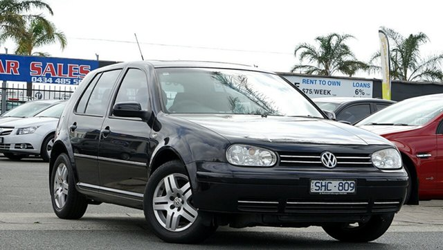 Used Volkswagen Golf 4th Gen MY03 Generation, 2003 Volkswagen Golf 4th Gen MY03 Generation Black 4 Speed Automatic Hatchback