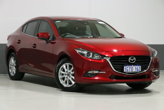 Used Mazda 3 BN MY17 Maxx, 2018 Mazda 3 BN MY17 Maxx Soul Red 6 Speed Automatic Sedan