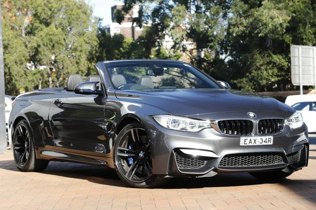 Used BMW M4 F83 M-DCT, 2015 BMW M4 F83 M-DCT Grey 7 Speed Sports Automatic Dual Clutch Convertible