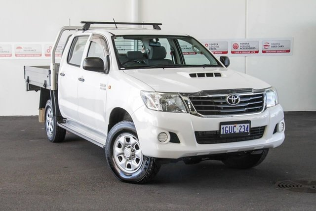Used Toyota Hilux KUN26R MY12 SR Double Cab, 2012 Toyota Hilux KUN26R MY12 SR Double Cab Glacier White 4 Speed Automatic Utility