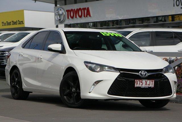 Used Toyota Camry ASV50R Atara SX, 2015 Toyota Camry ASV50R Atara SX White 6 Speed Sports Automatic Sedan