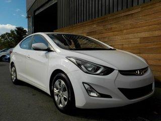 2015 Hyundai Elantra MD3 Active White 6 Speed Manual Sedan.