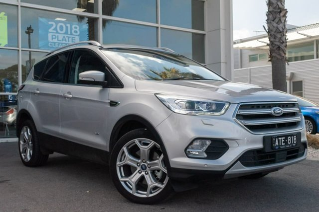 Used Ford Escape ZG Titanium PwrShift AWD, 2017 Ford Escape ZG Titanium PwrShift AWD 6 Speed Sports Automatic Dual Clutch Wagon