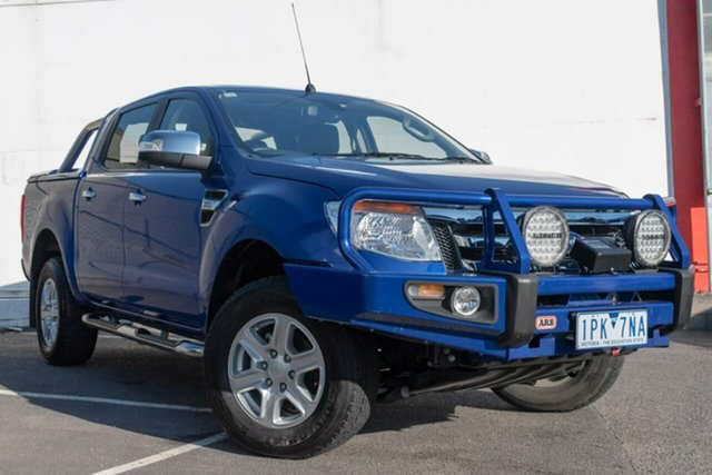 Used Ford Ranger PX XLT Double Cab, 2015 Ford Ranger PX XLT Double Cab Blue 6 Speed Sports Automatic Utility